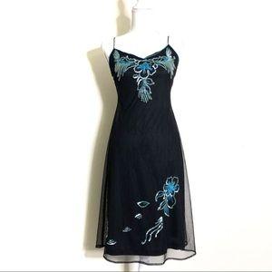 Betsey Johnson Vintage Beaded Slip Dress